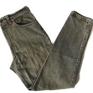 Levi's vintage sage green high rise jeans size 27